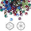 Bead, Swarovski crystal, Crystal Passions®, Jewel, 4mm Xilion bicone (5328). Sold per pkg of 144 (1 gross).