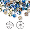 Bead, Swarovski crystal, Crystal Passions®, Lakeshore, 6mm Xilion bicone (5328). Sold per pkg of 144 (1 gross).