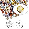 Bead, Swarovski crystal, Crystal Passions®, Oregon Evening, 4mm Xilion bicone (5328). Sold per pkg of 144 (1 gross).