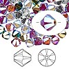Bead, Swarovski crystal, Crystal Passions®, Rock Star, 6mm Xilion bicone (5328). Sold per pkg of 24.