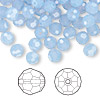Bead, Swarovski crystal, Crystal Passions®, air blue opal, 6mm faceted round (5000). Sold per pkg of 12.