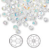 Bead, Swarovski crystal, Crystal Passions®, crystal AB, 2mm faceted round (5000). Sold per pkg of 144 (1 gross).