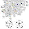 Bead, Swarovski crystal, Crystal Passions®, crystal AB, 3mm Xilion bicone (5328). Sold per pkg of 144 (1 gross).
