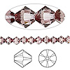 Bead, Swarovski crystal, Crystal Passions®, crystal antique pink, 5mm Xilion bicone (5328). Sold per pkg of 144 (1 gross).