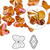 Bead, Swarovski crystal, Crystal Passions®, crystal astral pink, 10x9mm faceted butterfly (5754). Sold per pkg of 12.