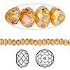 Bead, Swarovski crystal, Crystal Passions®, crystal astral pink, 4x3mm faceted rondelle (5040). Sold per pkg of 12.