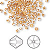 Bead, Swarovski crystal, Crystal Passions®, crystal copper, 3mm Xilion bicone (5328). Sold per pkg of 144 (1 gross).