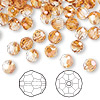 Bead, Swarovski crystal, Crystal Passions®, crystal copper, 6mm faceted round (5000). Sold per pkg of 144 (1 gross).