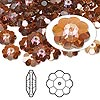 Bead, Swarovski crystal, Crystal Passions®, crystal copper, 8x3mm faceted marguerite lochrose flower (3700). Sold per pkg of 144 (1 gross).