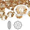 Bead, Swarovski crystal, Crystal Passions®, crystal golden shadow, 10x3.5mm faceted marguerite lochrose flower (3700). Sold per pkg of 12.