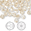 Bead, Swarovski crystal, Crystal Passions®, crystal golden shadow, 6mm faceted round (5000). Sold per pkg of 144 (1 gross).
