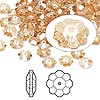 Bead, Swarovski crystal, Crystal Passions®, crystal golden shadow, 6x2mm faceted marguerite lochrose flower (3700). Sold per pkg of 144 (1 gross).