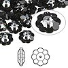 Bead, Swarovski crystal, Crystal Passions®, crystal silver night, foil back, 10x3.5mm faceted marguerite lochrose flower (3700). Sold per pkg of 144 (1 gross).