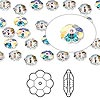 Bead, Swarovski crystal, Crystal Passions®, crystal transmission V, 6x2mm faceted marguerite lochrose flower (3700). Sold per pkg of 144 (1 gross).