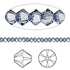 Bead, Swarovski crystal, Crystal Passions®, denim blue, 3mm Xilion bicone (5328). Sold per pkg of 144 (1 gross).