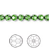 Bead, Swarovski crystal, Crystal Passions®, fern green, 6mm faceted round (5000). Sold per pkg of 12.
