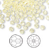Bead, Swarovski crystal, Crystal Passions®, jonquil, 4mm faceted round (5000). Sold per pkg of 144 (1 gross).