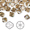 Bead, Swarovski crystal, Crystal Passions®, light Colorado topaz, 8mm Xilion bicone (5328). Sold per pkg of 72.