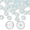 Bead, Swarovski crystal, Crystal Passions®, light azore, 6mm faceted round (5000). Sold per pkg of 144 (1 gross).