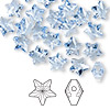 Bead, Swarovski crystal, Crystal Passions®, light sapphire, 8x8mm faceted star (5714). Sold per pkg of 24.