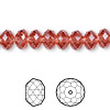 Bead, Swarovski crystal, Crystal Passions®, padparadscha, 8x6mm faceted rondelle (5040). Sold per pkg of 12.