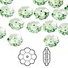 Bead, Swarovski crystal, Crystal Passions®, peridot, 10x3.5mm faceted marguerite lochrose flower (3700). Sold per pkg of 12.