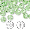 Bead, Swarovski crystal, Crystal Passions®, peridot, 8mm faceted round (5000). Sold per pkg of 144 (1 gross).