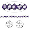 Bead, Swarovski crystal, Crystal Passions®, purple velvet, 3mm Xilion bicone (5328). Sold per pkg of 48.