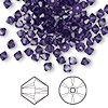 Bead, Swarovski crystal, Crystal Passions®, purple velvet, 4mm Xilion bicone (5328). Sold per pkg of 144 (1 gross).