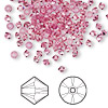 Bead, Swarovski crystal, Crystal Passions®, rose, 3mm Xilion bicone (5328). Sold per pkg of 144 (1 gross).