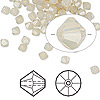 Bead, Swarovski crystal, Crystal Passions®, sand opal, 4mm faceted bicone (5301). Sold per pkg of 144 (1 gross).