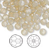 Bead, Swarovski crystal, Crystal Passions®, sand opal, 6mm faceted round (5000). Sold per pkg of 144 (1 gross).