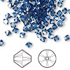 Bead, Swarovski crystal, Crystal Passions®, sapphire satin, 4mm Xilion bicone (5328). Sold per pkg of 144 (1 gross).