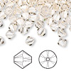 Bead, Swarovski crystal, Crystal Passions®, silk, 6mm Xilion bicone (5328). Sold per pkg of 144 (1 gross).