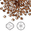 Bead, Swarovski crystal, Crystal Passions®, smoked topaz, 4mm Xilion bicone (5328). Sold per pkg of 144 (1 gross).