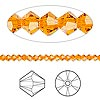 Bead, Swarovski crystal, Crystal Passions®, sun, 3mm Xilion bicone (5328). Sold per pkg of 144 (1 gross).