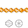 Bead, Swarovski crystal, Crystal Passions®, sun, 8mm faceted bicone (5301). Sold per pkg of 12.