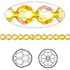 Bead, Swarovski crystal, Crystal Passions®, sunflower AB, 4mm faceted round (5000). Sold per pkg of 12.