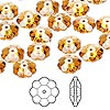 Bead, Swarovski crystal, Crystal Passions®, topaz, 10x3.5mm faceted marguerite lochrose flower (3700). Sold per pkg of 12.