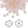 Bead, Swarovski crystal, Crystal Passions®, vintage rose, 4mm Xilion bicone (5328). Sold per pkg of 144 (1 gross).
