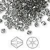 Bead, Swarovski crystal, black diamond, 4mm Xilion bicone (5328). Sold per pkg of 1,440 (10 gross).