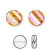 Bead, Swarovski crystal, crystal astral pink, 14mm faceted twist with 1-1.6mm hole (5621). Sold per pkg of 96.