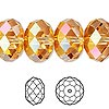 Bead, Swarovski crystal, crystal astral pink, 18x12mm faceted rondelle (5040). Sold per pkg of 24.