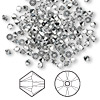 Bead, Swarovski crystal, crystal comet argent light, 3mm Xilion bicone (5328). Sold per pkg of 1,440 (10 gross).