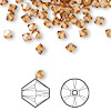 Bead, Swarovski crystal, crystal copper, 4mm Xilion bicone (5328). Sold per pkg of 1,440 (10 gross).