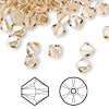 Bead, Swarovski crystal, crystal golden shadow, 6mm Xilion bicone (5328). Sold per pkg of 360.
