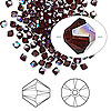 Bead, Swarovski crystal, garnet AB, 3mm Xilion bicone (5328). Sold per pkg of 1,440 (10 gross).