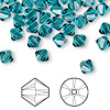 Bead, Swarovski crystal, indicolite, 6mm Xilion bicone (5328). Sold per pkg of 144 (1 gross).