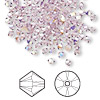 Bead, Swarovski crystal, light amethyst AB, 3mm Xilion bicone (5328). Sold per pkg of 1,440 (10 gross).