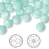Bead, Swarovski crystal, mint alabaster, 8mm faceted round (5000). Sold per pkg of 288 (2 gross).